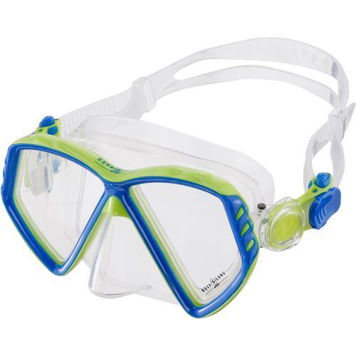 AQUA LUNG Cub JR Taucherbrille Kinder in light blue-bright green, Größe S