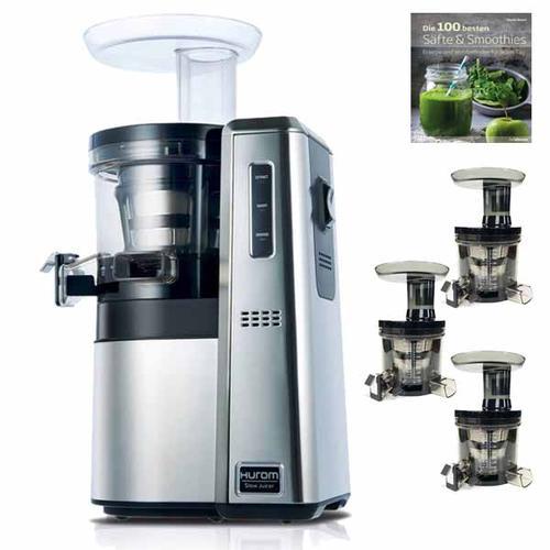 Hurom HW-Professional | Gastro Slow-Juicer (3.Generation) mit 3 x Pressaufsatz | Entsafter - Saftpresse Gewerbe & Gastro