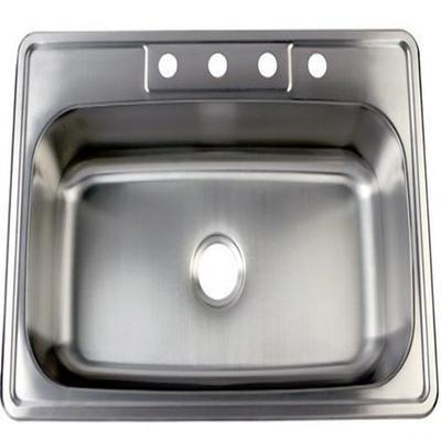 Kingston Brass Gourmetier GKTS332290 Studio Self Rimming Single Bowl Sink, 33-Inch L x 22-Inch W x 9