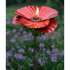 Desert Steel Garden Stakes - Poppy Garden Torch