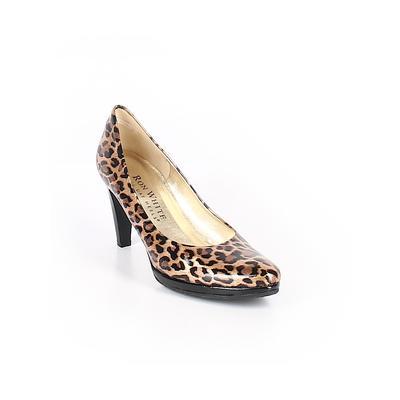 Ron White - Ron White Heels: Tan Print Shoes - Size 38.5