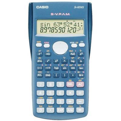 calculatrice de bureau casio type:fx-82 ms alim.:pile aa