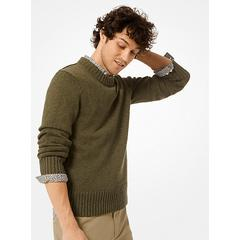 Michael Kors Cotton and Linen Pullover Green M