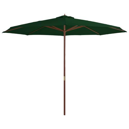 vidaXL Sonnenschirm mit Holzmast 350 cm Grün