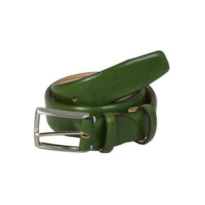 40 Colori - Venezia Leather Belt - Red / Medium (30-35'' or 84-92cm) - Green/Red/Blue