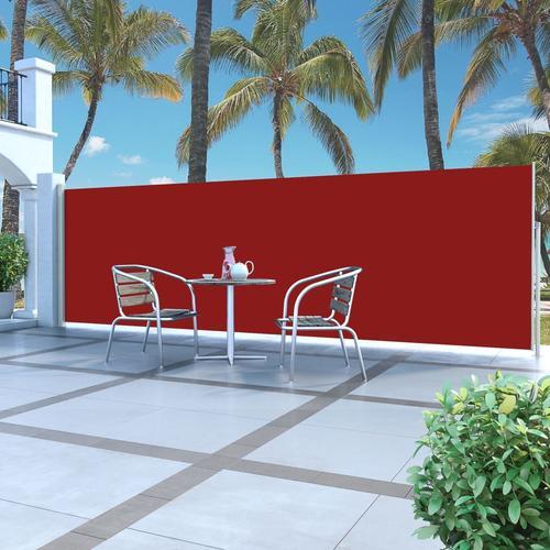 vidaXL Ausziehbare Seitenmarkise 160 x 500 cm Rot