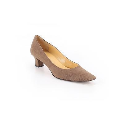 Bruno Magli - Bruno Magli Heels: Brown Solid Shoes - Size 9