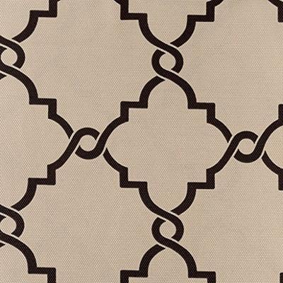 "Madison Park Saratoga Fretwork Print Grommet Top Window Curtain Khaki 63"" Panel"