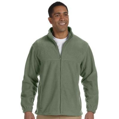 Harriton Mens Full-Zip Fleece (M990) -DILL -XL