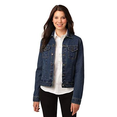 Port Authority Women's Ladies Denim Jacket. L7620 S Denim Blue