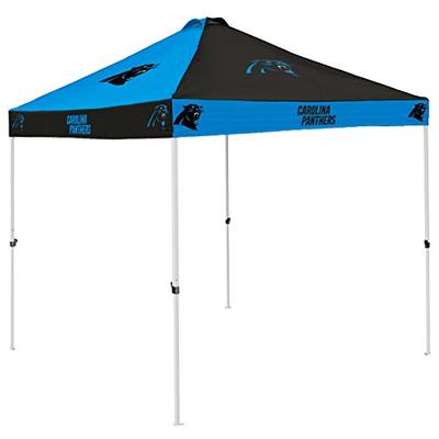 Logo Brands NFL Carolina Panthers Checkerboard Tent Checkerboard Tent, Charcoal, One Size