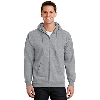 Port & Company Men's Ultimate Full Zip Hooded Sweatshirt L Athletic Heather