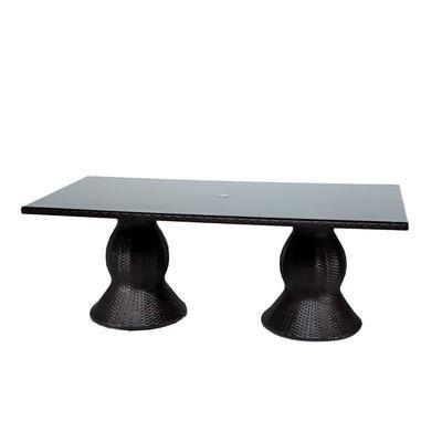 Napa Rectangular Outdoor Patio Dining Table in Espresso - TK Classics Napa-Rec-Dining-Table