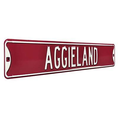 "NCAA Aggieland Texas A&M Street Signstreet Sign, Team Color, 36"" x 6"""