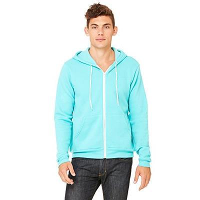 Bella 3739 Unisex Poly-Cotton Fleece Full-Zip Hoodie - Teal, Extra Small