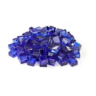 """""""Cobalt Blue 1/2"""""""" Reflective Fireglass Cubes - 10 lb bag in N/A - TK Classics Fp-Cube-Cobl12"""""""