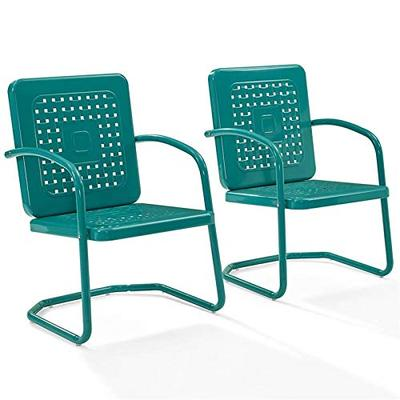 Crosley Furniture Bates Chair in Turquoise Finish - Set of 2