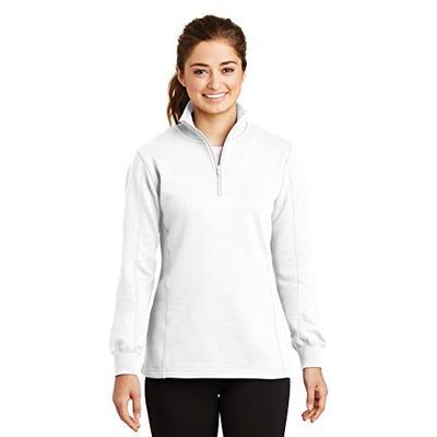 Sport-Tek Women's 1/4 Zip Sweatshirt XS White