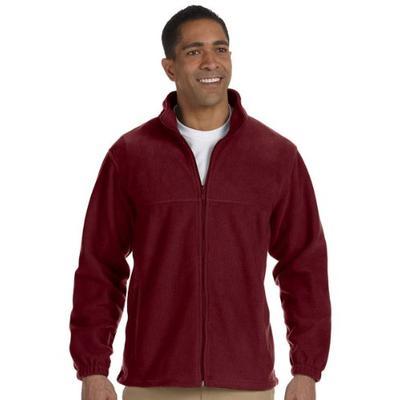 Harriton Mens Full-Zip Fleece (M990) -WINE -3XL