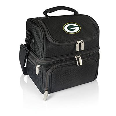 PICNIC TIME NFL Green Bay Packers Pranzo Insulated Lunch Tote with Service for One, Black