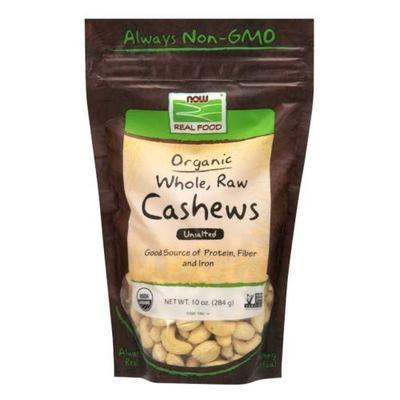 Now - Cashews - Organic Whole Raw Cashews 10oz ( Multi-Pack)