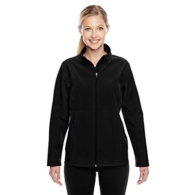 Team 365 Womens Leader Soft Shell Jacket (TT80W) -Black -XL