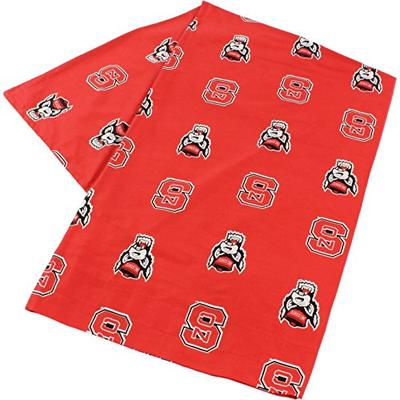 """College Covers North Carolina State Wolfpack Pillowcase Only-Body Pillow, 20"""" x 60"""", Red"""