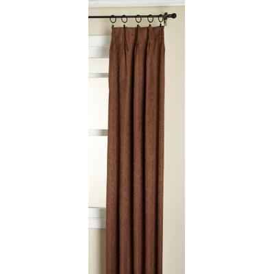 Stylemaster Gabrielle Pinch Pleated Foam Back Patio Panel, Chocolate, 96 by 84-Inch