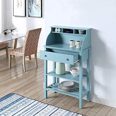 Convenience Concepts 203003SF Designs2Go Office Kitchen Storage Desk Sea Foam