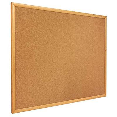 Quartet Corkboard, Framed Bulletin Board, 4' x 3', Corkboard, Oak Finish Frame (304)
