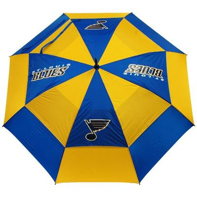 """Team Golf NHL St Louis Blues 62"""" Golf Umbrella with Protective Sheath, Double Canopy Wind Protection"""