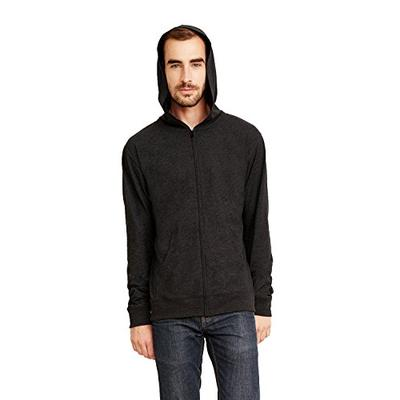 Next Level 6491 Adult Sueded Full-Zip Hoody Heather Charcoal L
