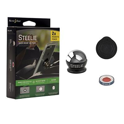 Nite Ize Steelie Dash Mount Kit Plus - Magnetic Car Dash Mount for Smartphones with 2X Holding Power