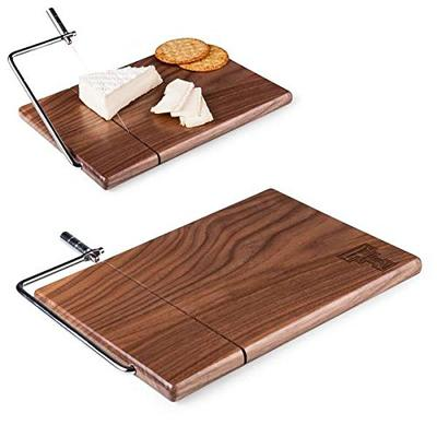 PICNIC TIME NCAA Texas Tech Red Raiders Meridian Black Walnut Cutting Board with Cheese Slicer